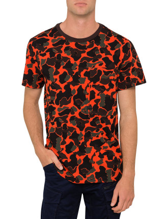 Stalt All Over Happy Camo S/S Tee