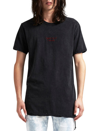 Caring Faded Black SS Tee