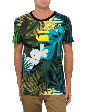 Aloha Print Rt S/S Tee