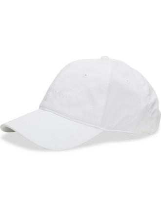 WHITE CALVIN KLEIN LOGO CAP
