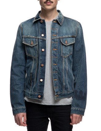 Billy Jacket Scribble Denim