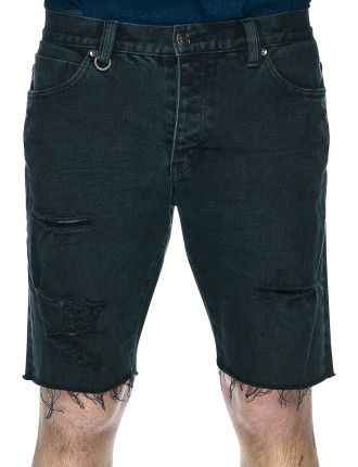 Ray Side Pocket Short Denim