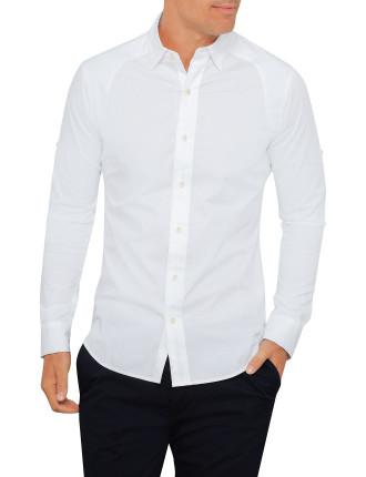 Pin Stretch Poplin Shirt