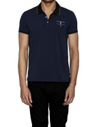 Stretch Jersey Tipped Polo $55.96