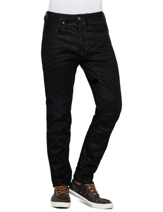 A Crotch 3d Tapered Hoist Black Denim