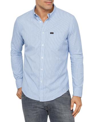 Lee Button Down Fine Stripe Shirt