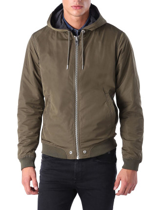 J-Hellswe Nylon Hooded Reversible Zip Jacket