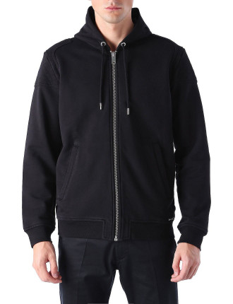 S-Yama Zip Hooded Sweat W/Padded Shoulders
