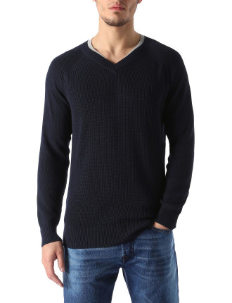 K - Sosty  Double V Neck Knit