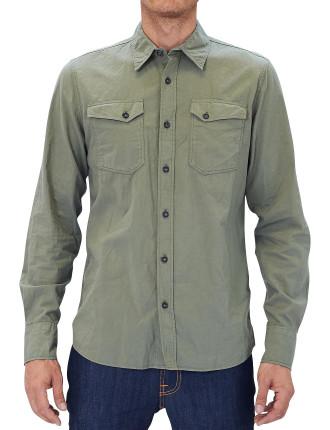 Over Dye Olive Shirt