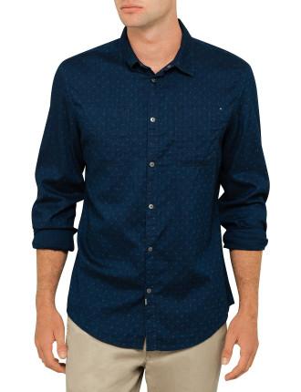 Dark Indigo Textured Shirt