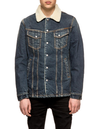 Lenny Denim Jacket With Shearling Collar