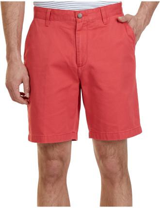 Flat Front Cotton Twill Short