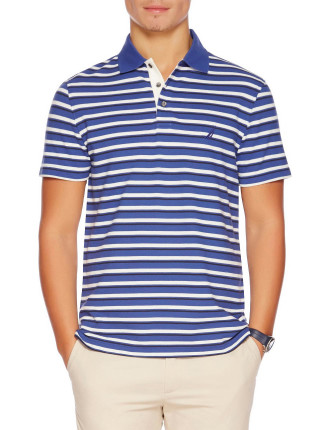 Short Sleeve Multi Stripe Polo