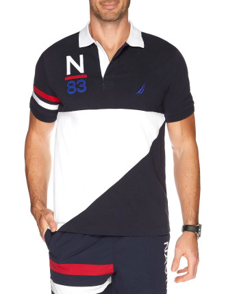 Short Sleeve Pieced Heritage Polo