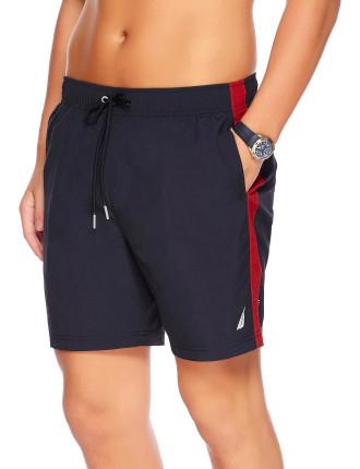 18' Elastic Side Stripe Swim Short