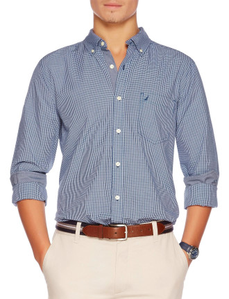 Long Sleeve Mini Check Shirt