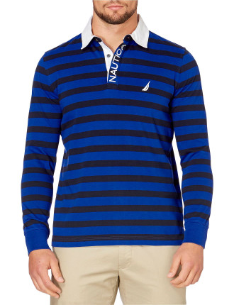 Long Sleeve Rugby Bright Cobalt