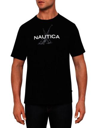 Anchor Flag Print T-Shirt