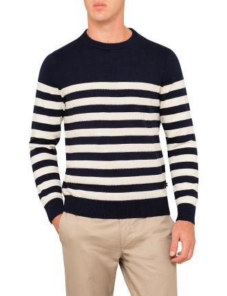 Cotton Bretton Stripe Sweater