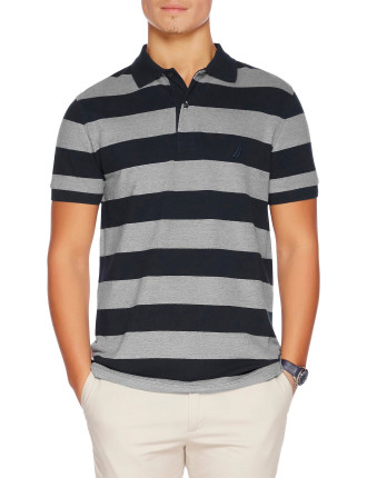 Short Sleeve Rugby Stripe Polo