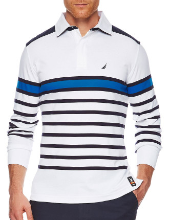 Ls Stripe Trim Polo
