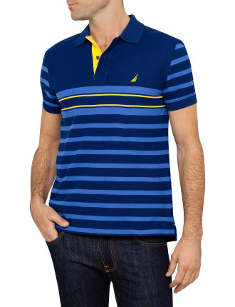 Ss Stripe Trim Polo