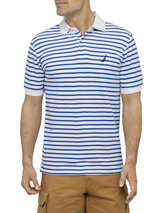 Ss Trim Stripe Polo