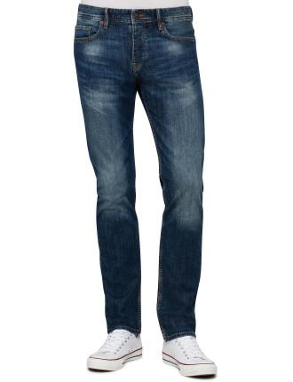 Mid Blue Classic Wash Reg Fit Jean