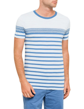 COLOUR BLOCK AND STRIPE TEE
