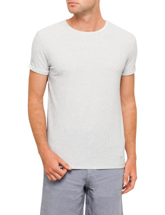 RELAXED FIT LINEN LOOK TEE