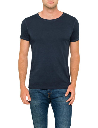 Troy crew-neck basic cotton tee
