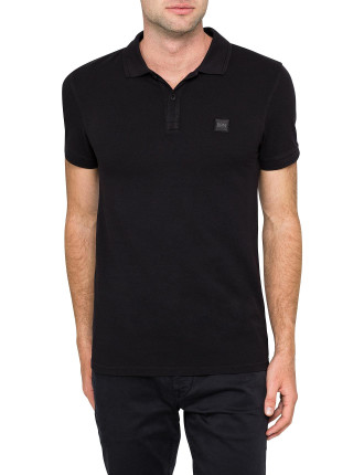 Prime core pique polo w/ chest logo