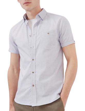 Short Sleeve Nepped Shirt