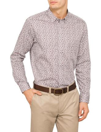 Long Sleeve Paisley Shirt