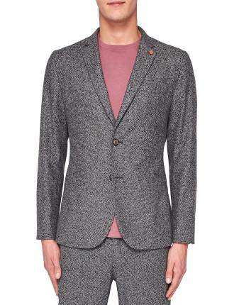 Semi plain wool jacket