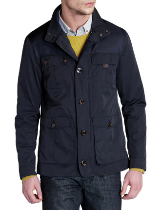 4 Pocket Zip Front Jacquard Lining Jacket