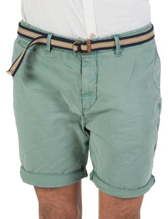 Garment Dyed Twill Chino Short