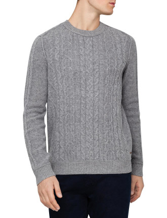 Cable Crew Neck Knit