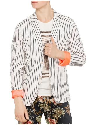 Relaxed Summer Stripe Blazer