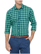 Long Sleeve Bright Two Tone Check Shirt $119.95