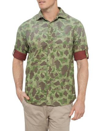 Long Sleeve Military Camo Shacket