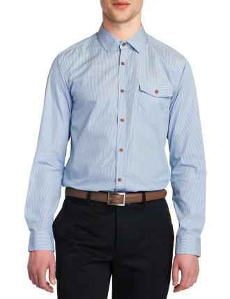 Long Sleeve Micro Gingham Shirt