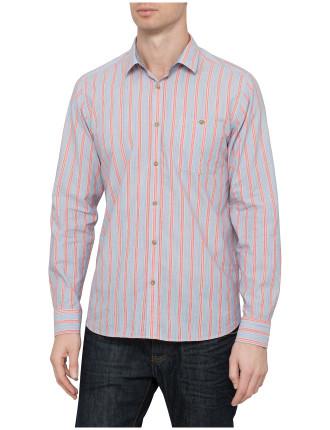 Long Sleeve Collegiate Multi Stripe Shirt