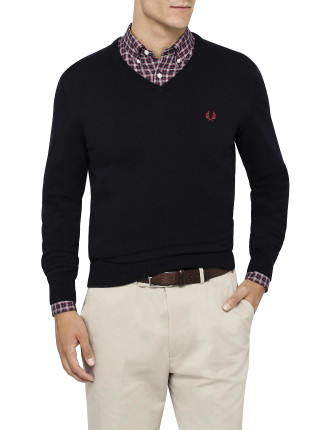 Classic Tipped V Neck Sweater