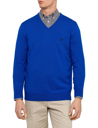 Classic Tipped V-Neck Knit