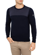 Crew Neck Textured Detail Knit $219.00