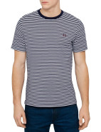 Short Sleeve Sharp Stripe Crew Neck Tee $120.00