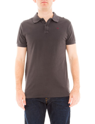 Short Sleeve Basic Garment Dyed Polo