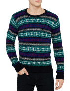Intarsia Crew Neck Pull Over Knit $169.95